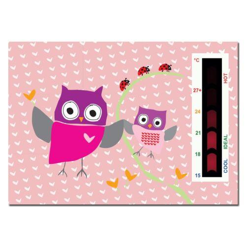 Bébé Rose hibou et Ladybird Nursery Chambre de sécurité température thermomètre Moniteur