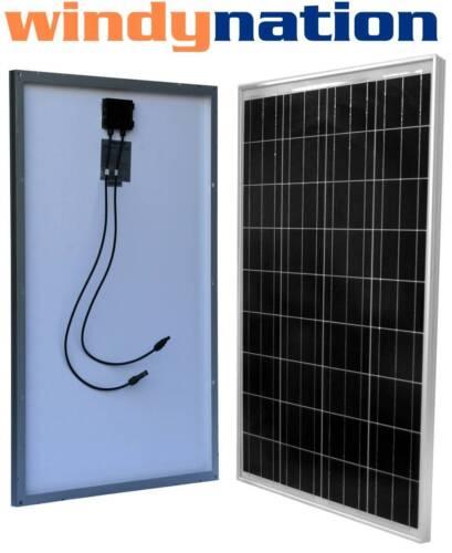 100 Watt 100W 12V 12 Volt Slim Solar Panel Battery RV Boat Camping Off Grid