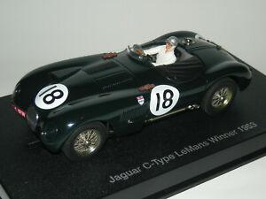 JAGUAR-CTYPE-LE-MANS-WINNER-1953-AUTOART-1-32-SCALEXTRIC-NUEVO-EN-CAJA