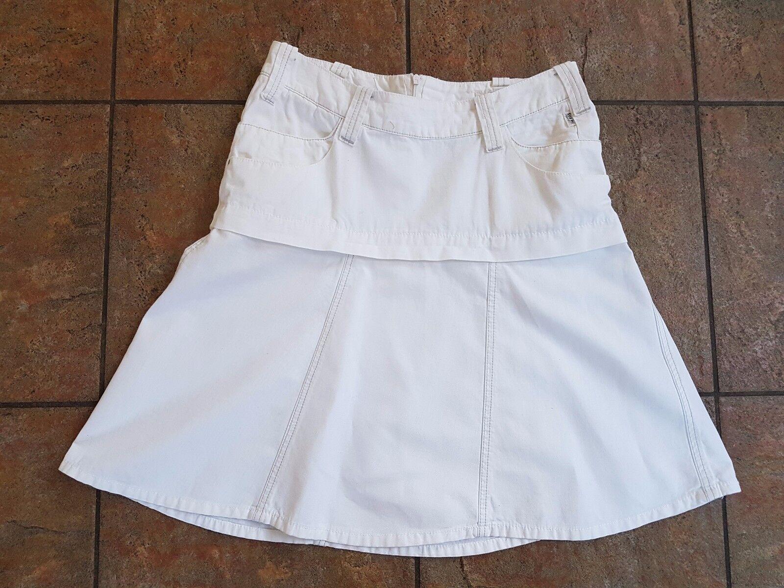 NEW Seal Kay Italian Designer White Skirt Size M ( 12) RRP .00