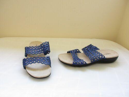New Women/'s Croft /& Barrow Becky Slip On Slide Sandal Style 73277 Navy 20E