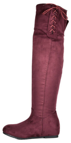 DREAM PAIRS Women/'s Over The Knee Thigh High Stretch Suede Autumn Winter Boots