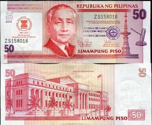 MEMBER ASEAN UNC PHILIPPINES 50 PISO 2012 P 211A COMM