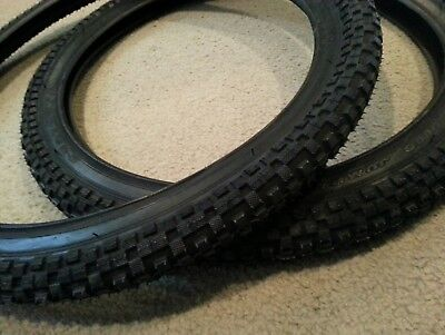 THICK KNOBBY PATTERN  2 TIRES !! 2 DURO  BICYCLE TIRES 20X1.95 BMX TIRES TWO