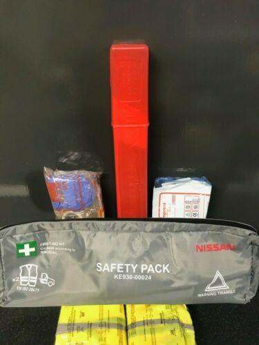 Primeros Auxilios Kit con 2 Alto Viz chaquetas y Triángulo De Advertencia-Coche Furgoneta