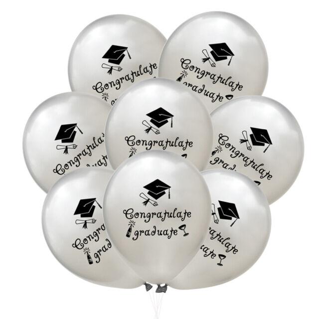 15Pcs Latex Balloons Congratulate Rubber Latex 2019 Letter Baloon for Graduation