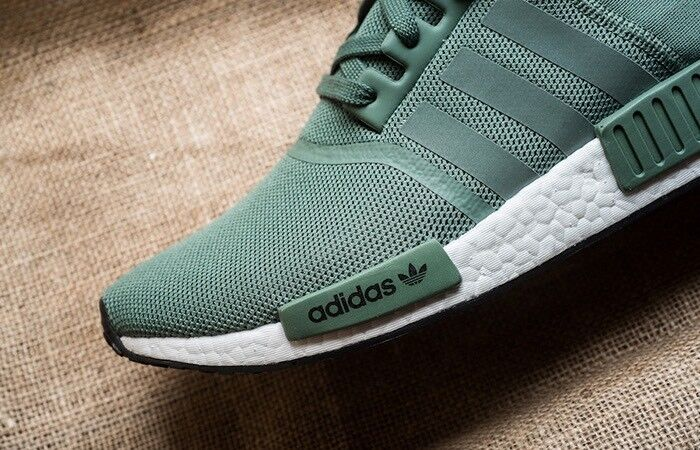 d6489cb5f adidas NMD R1 Trace Green Olive Cargo White Boost Shoes Nomad By9692 Mens  Sz 9.5 for sale online