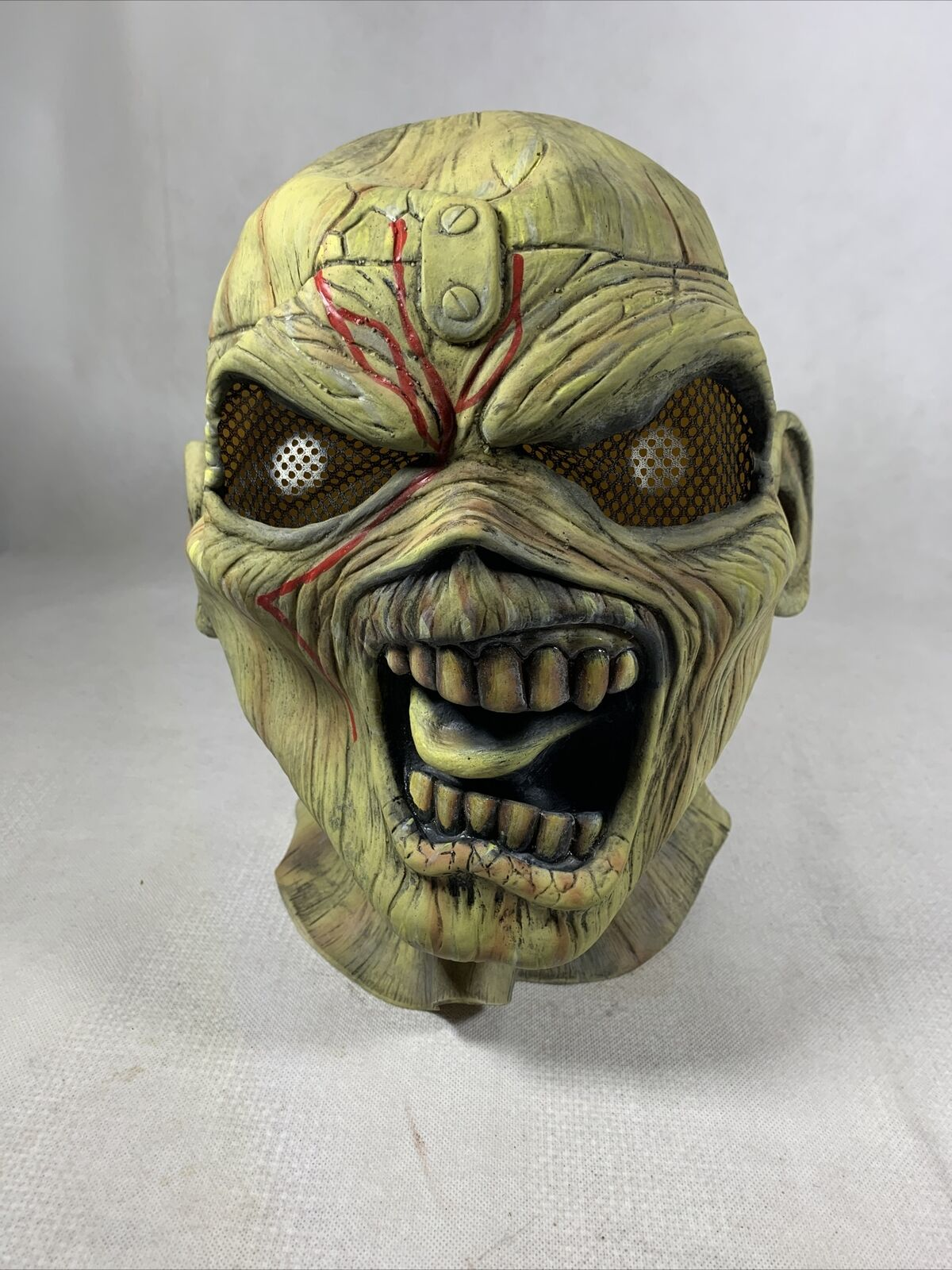 Iron Maiden Piece of Mind Deluxe Cosplay Mascot Eddie Mask used