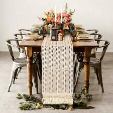 34dd2b1e901 Cotton Fringe Tassel Macrame Table Runner Boho Moroccan Wedding Party Home  Decor