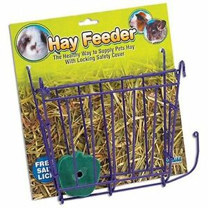 WARE-HAY-FEEDER-W-SALT-LICK-FOR-SMALL-ANIMAL-TOY-CHEW-FREE-SHIPPING-IN-THE-USA