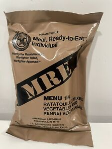 NEW Military D.O.D. Individual MRE, Meals Ready-to-Eat, RATATOUILLE (vegetarian)