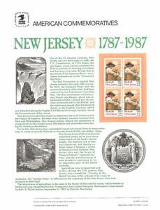 293-22c-New-Jersey-Statehood-2338-USPS-Commemorative-Stamp-Panel