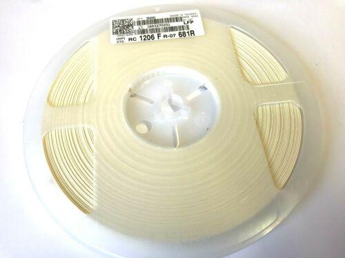 Widerstand 681R, 680R RC1206FR-07681R 1/% 1//4W,1206 YAGO 1 Rolle 5000 Stück