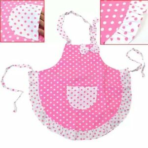Girls Pink Apron Cooking Baking Painting Game Spotty