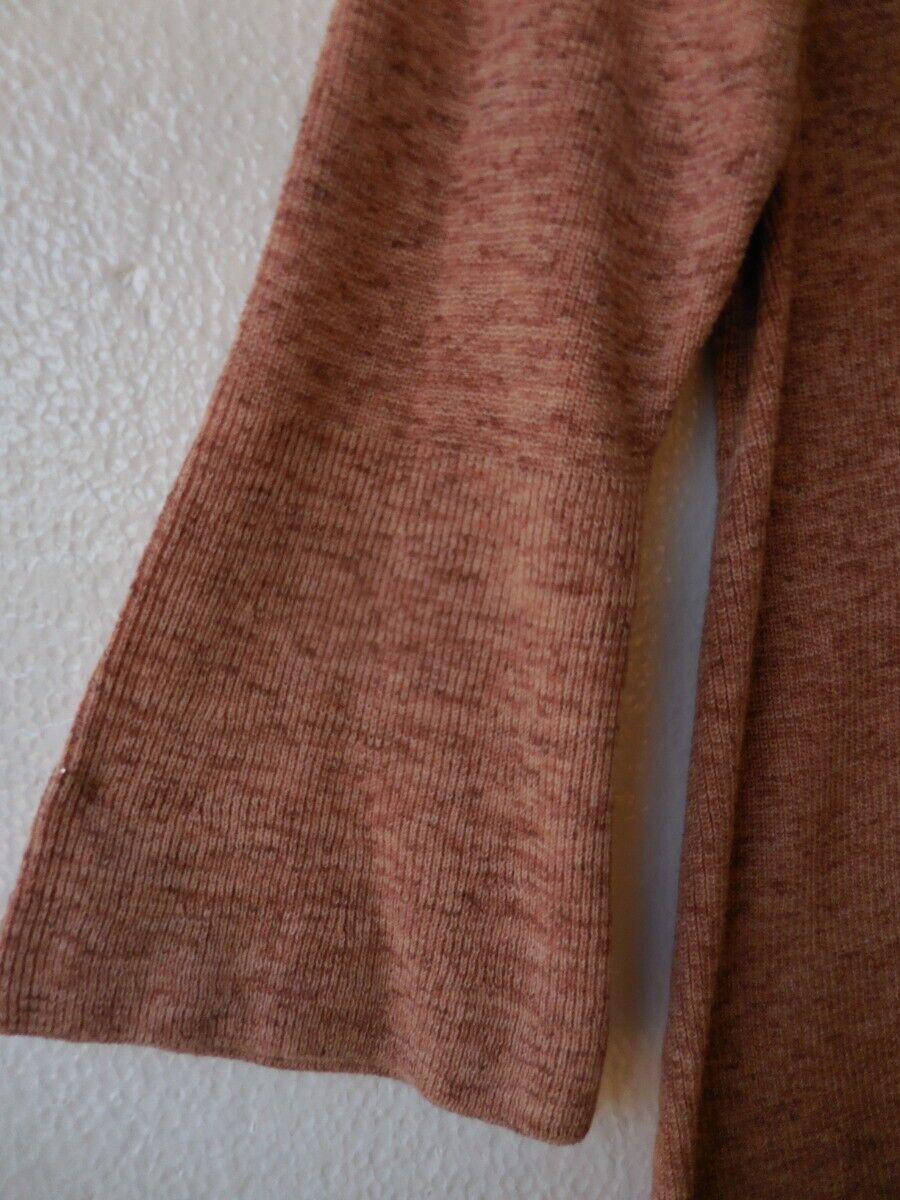 Eileen Fisher Naranja Pekoe popurrí de Algodón Orgánico Cuello Cuello Cuello en V Suéter Superior L nuevo con etiquetas 23cac6