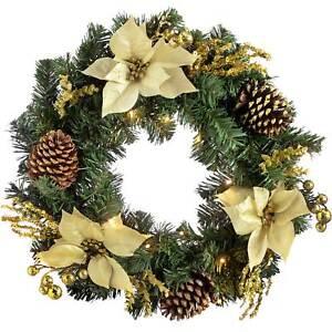 60cm Pre-Lit Poly Cotton Light Up Snowflake Decoration Christmas Home Decor
