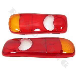 2x-Lichtscheibe-Glas-Heckleuchte-Rueckleuchte-fuer-Nissan-Cabstar-VW-T5-Renault