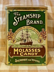 The-Steamship-Brand-Molasses-Candy-Tin-Made-in-England-By-Stewart-amp-Young-Glasgow