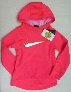 - NWT MSRP$44.00 Nike Little Girls Therma Tunic Pink Hoodie S Size 5