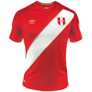 buy online ad8ab af663 Details about Authentic Peru World Cup Away Red Jersey Original Umbro Shirt  FIFA Russia 2018