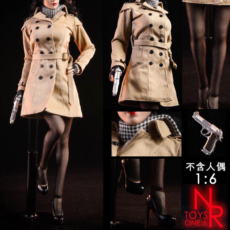 NRgiocattoli 1 6 Ada Wong Resident Evil Coat Windbreaker capi  di abgreeliamento Costume modellololo  nuova esclusiva di fascia alta