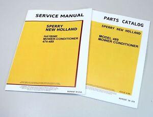 NEW HOLLAND 489 HAYBINE MOWER CONDITIONER SERVICE REPAIR PARTS MANUALS CATALOG