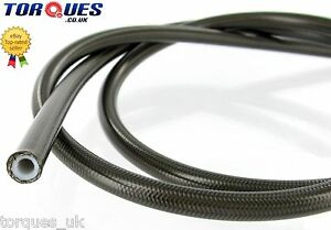 AN-3-1-8-034-I-D-Stainless-Braided-Smoked-PVC-Coated-Teflon-Brake-Hose-1m
