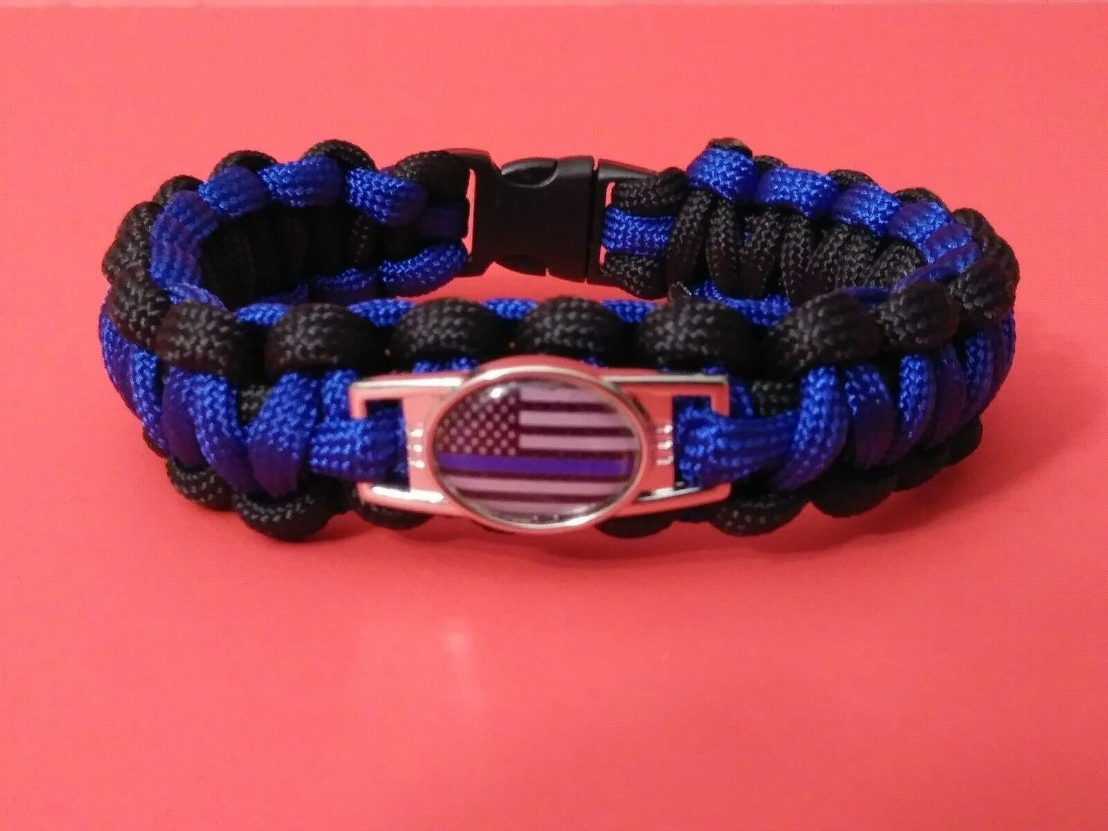 Thin Blue Line Paracord Bracelet Support Blue Lives Matter Wrist Band Police