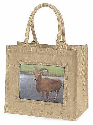 Cute Nanny Ziege Große Natürliche Jute-einkaufstasche Weihnachten , Goat-1BLN
