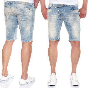 Red-Bridge-Men-039-s-Jean-Shorts-m-4825-USED-LOOK-WITH-SPLASHES-OF-COLOUR