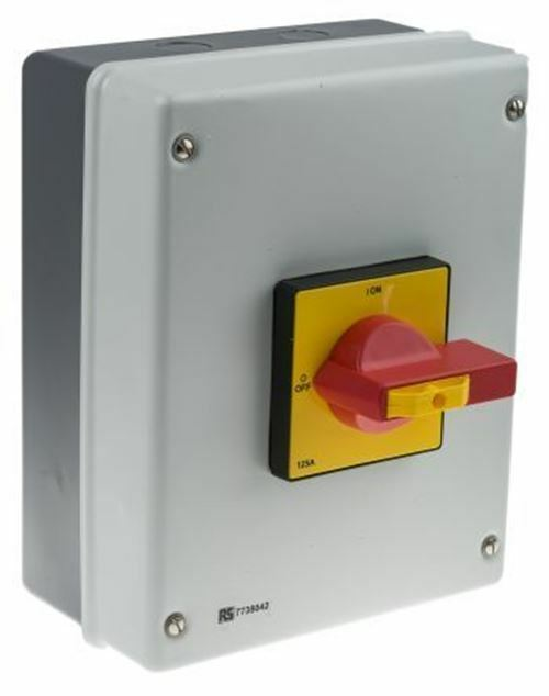 4 Polos Montaje en Panel No Fusible Interruptor Del Aislador, 125a, 75 Kw, Ip54