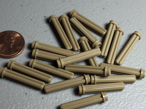 LEGO Lot of 20 Dark Tan 3L Axle Rods With Studs Technic Mindstorm Parts NEW