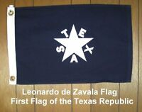 First Republic Of Texas Flag 3'x5' Cotton, Cut & Sewn, New, Free Shipping