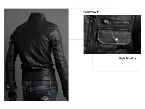 US Men Leather Jacket Hommes veste cuir Herren Lederjacke chaqueta de cuero M6
