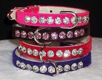 Rhinestone Shimmering Genuine Crystal Dog Collar Bling Jewels Small Sizes Cute