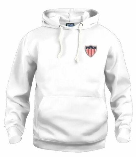 USA America Football Sweat à Capuche Tailles S-XXXL Logo Brodé
