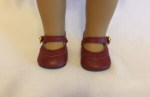 "Burgundy Shoes for 18/"" American Girl Doll Maroon Shoes Burgundy Doll Shoes"