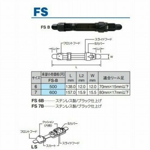 * Fuji Plate Reel Seats FS-6B Rod making Repair parts