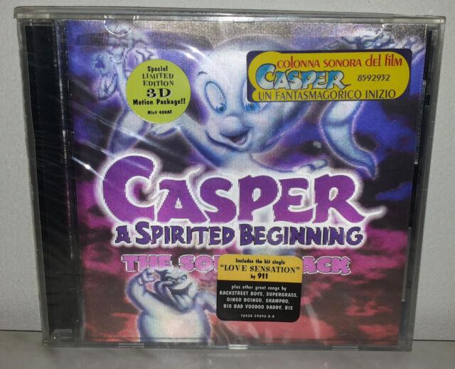 CD CASPER - A SPIRITED BEGINNING SOUNDTRACK - 3D - NUOVO NEW