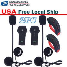 Bluetooth Intercom Headset Motorcycle Helmet Mic Speaker RC Radio FM NFC 1km US