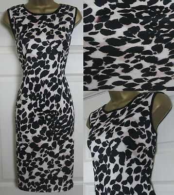 NEW WALLIS ANIMAL PRINT SHIFT DRESS BODYCON SCUBA BLACK IVORY PINK PARTY 10-20