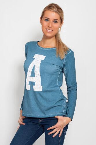 Unique Women/'s Casual T-Shirt Long Sleeve Blouse Crew Neck Size 8-12 FT543