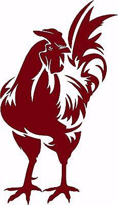 Fighting Chicken Rooster Spurs Car Truck Window Laptop Sign Vinyl Decal Sticker