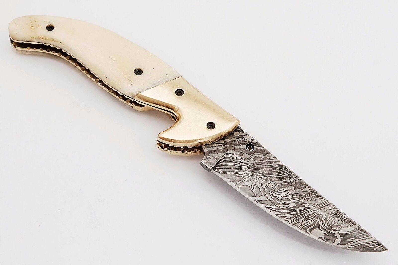 Damast Taschenmesser,  Damascus Folding Knife,4227 10  | | | Wonderful  cf28fb