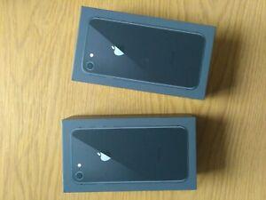 2 pc's Genuine Empty RETAIL Box For Apple iPhone 8 64GB BLACK - No Device