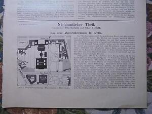 1899... Bauverwaltung 3/berlin Chambre Des Députés 1/-us 1 / Fr-fr Afficher Le Titre D'origine 100% De MatéRiaux De Haute Qualité