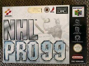 NHL pro 99 Nintendo 64 n64 pal OVP Artículo nuevo