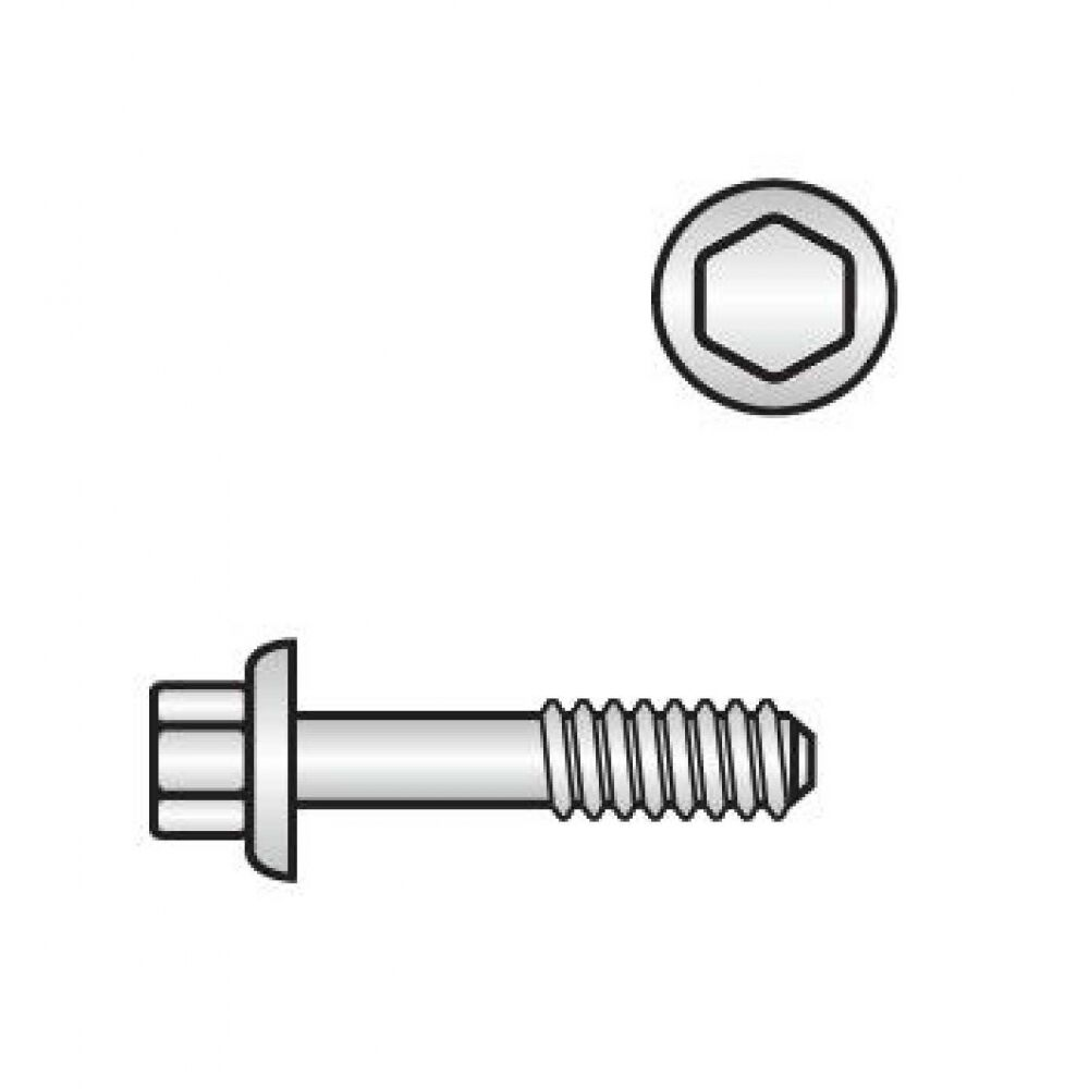 100x Sechskant-Flanschschrauben M 12 x 55 10.9 blank. mit Sperr-Rippen