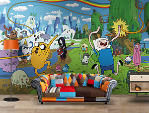 Adventure Time Wall Mural Wall Art Quality Pastable Wallpaper ...