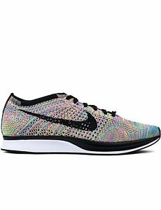 sports shoes 4dc76 c9356 Image is loading Nike-Flyknit-Racer-Multicolor-3-0-Size-10